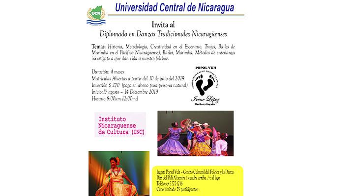 Inicio de Diplomado en Danzas Tradicionales Nicaragüenses