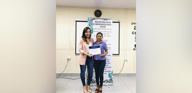 Emprendedoras de la Universidad Central de Nicaragua en alianza de colaboración la Red de Mujeres Emprendedoras Nicas
