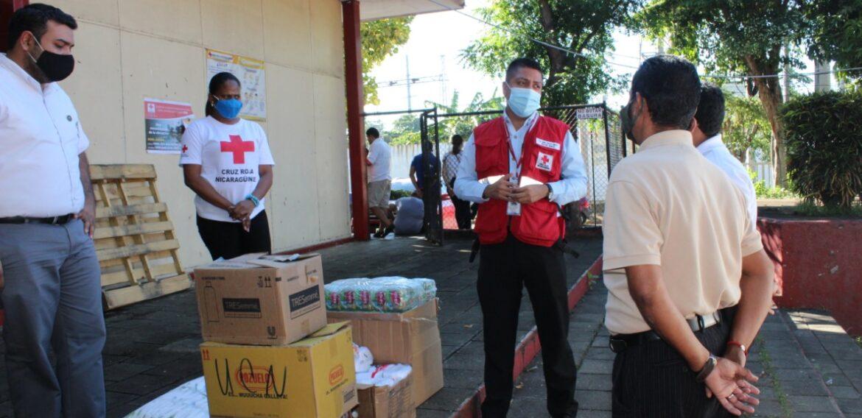 Entrega de donación de productos varios a Cruz Roja Nicaragüense